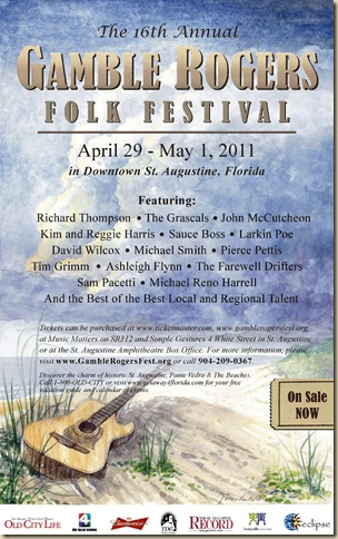 16th Annual Gamble Rogers Folk Festival