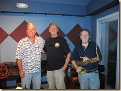 Walt Kulwicki, Eli Grimes and Hurricane Rick Johnson at Eclipse Recording Company