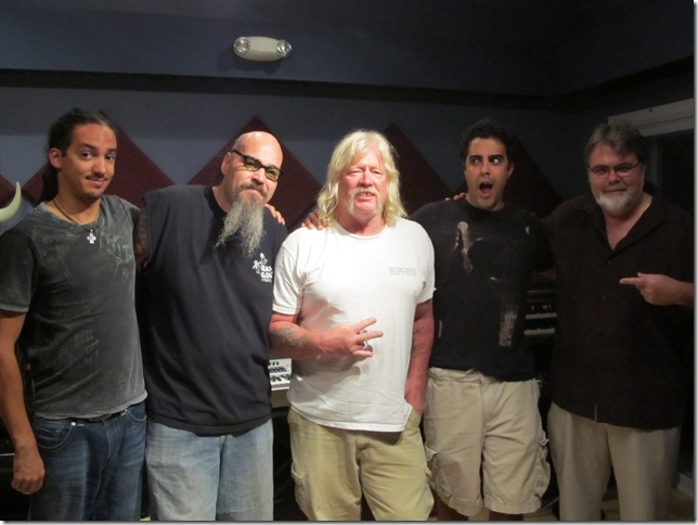 Barefoot Davis and the Gang at Eclipse Recording Company